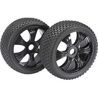 Absima 1:8 Buggy Wheels 3-Pin 6-spoke