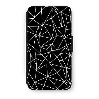 iPhone X Flip Case - Geometric lines white