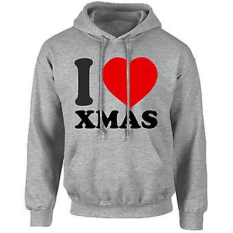 Yo amor Navidad Navidad Unisex con capucha 10 colores (S-5XL) por swagwear