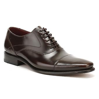 Loake Mens Dark Brown Leather Sharp Shoes