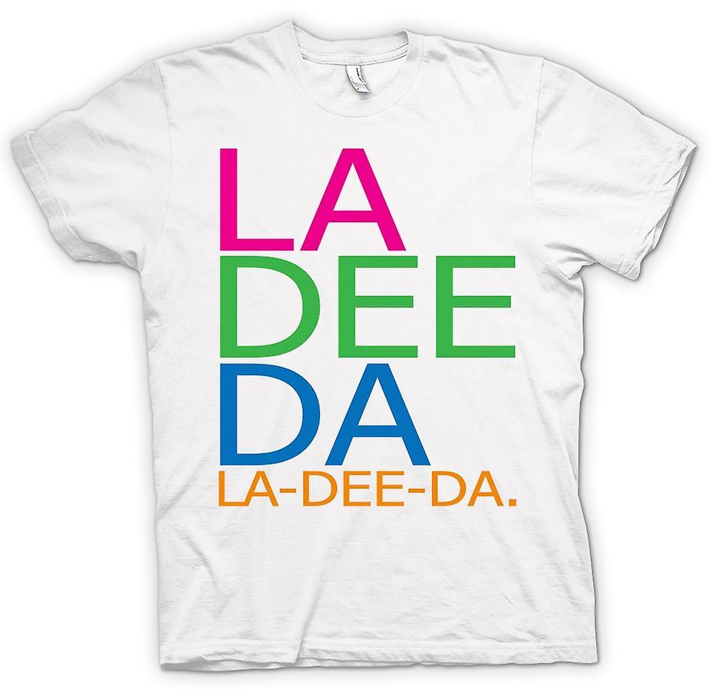 Mens t-skjorte - Annie Hall La Dee Da - morsom