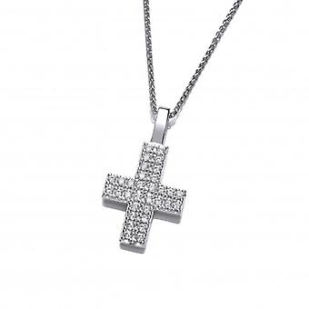 Cavendish French Silver and Cubic Zirconia Cross Pendant without Chain