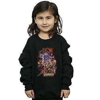 Marvel Girls Avengers Infinity War Character Poster Sweatshirt