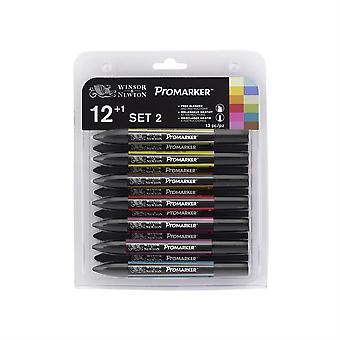 Уинсор & Ньютон ProMarker Twin Tip маркер ручка 12 + 1 набор #2