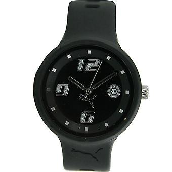 PUMA reloj negro mancha damas PU910672001 3HD pulsera reloj mujer