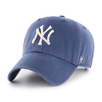 47 Brand MLB New York Yankees Clean Up Cap - Timber Blue
