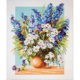 Collection D'art Stamped Cross Stitch Kit 37X49cm-Blue Fountain