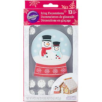 Royal Icing Decorations 13/Pkg-Giant Snowglobe