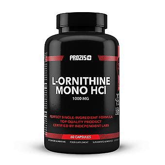 PROZIS - L-Ornithin 1000mg 60 Kapseln - Promotes Human Growth Hormone Production and Prevent Muscle Catabolism - 30 Servings