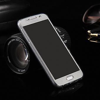 Custodia cover case per Samsung Galaxy J5 2016 frame grigio completo corpo