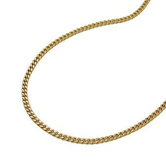 Halskette gold 375 Panzer Kette, Panzerkette 42cm, 9 Kt GOLD Federringverschluß