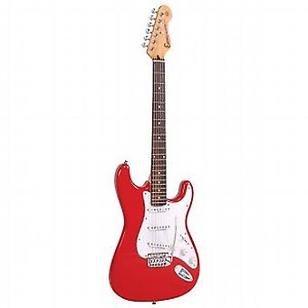 Encore Red Electric Guitar