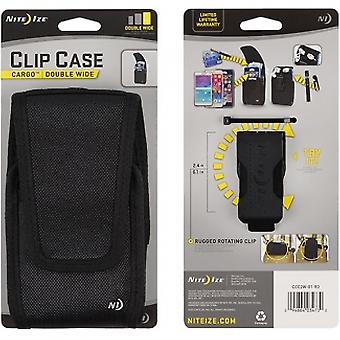 NITE IZE VERTICAL BLACK CLIP CASE CARGO CLOSURE - DOUBLE WIDE