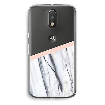 Motorola Moto G4/G4 Plus Transparent Case - A touch of peach