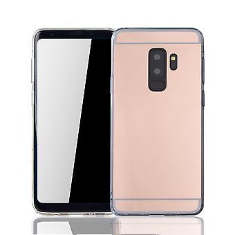 Samsung Galaxy S9 Plus Handy-Hülle Spiegel Mirror Soft-Case Schutz-Cover Rose Gold