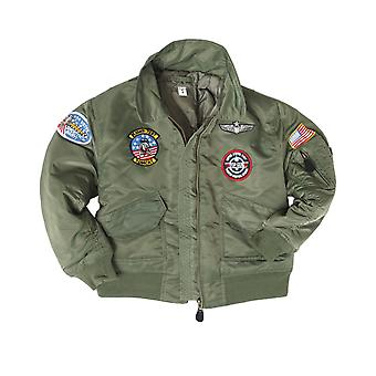 Mil-Tec Kids CWU Jacket with patches