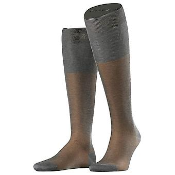 Falke Fine Shadow Knee High Socks - Grey/Brown