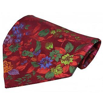 Posh and Dandy Flowers Pocket Square - Wine/Multi-colour