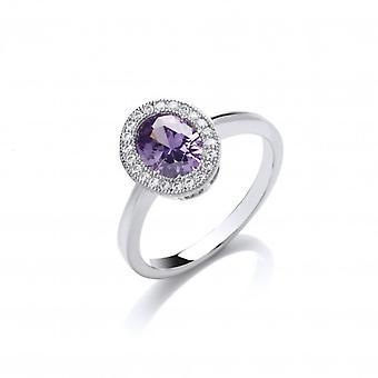 Cavendish Französisch zeitlosen Eleganz Amethyst Ring