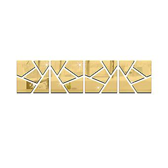 TRIXES 4PC 3D efeito rachado padrão Ideal para casa decoração ouro
