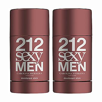 2-pack Carolina Herrera 212 Sexy mannen Edt 75 ml