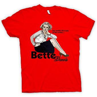 Womens T-shirt - Bette Davis 1e Lady - klassieke film