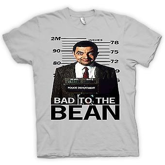 Mens t-shirt - Mr Bean Bad a fagiolo Mug Shot - commedia