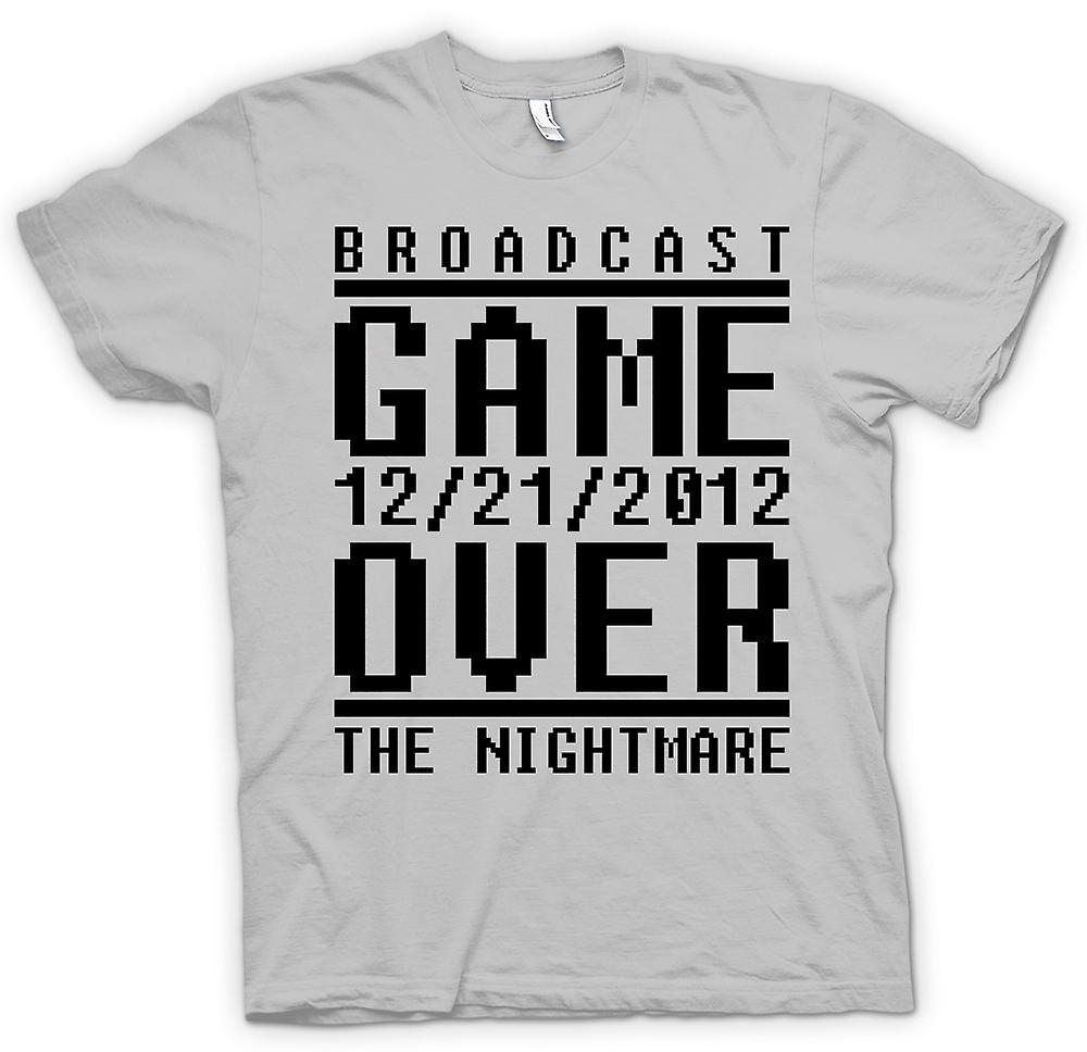 Heren T-shirt - Game Over 2012 nachtmerrie - Apocalypse einde dagen