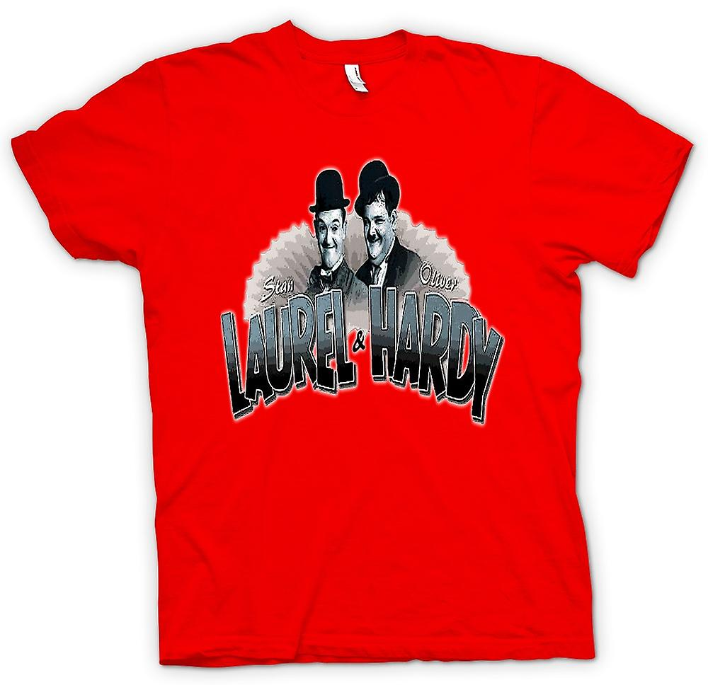 Mens T-shirt - Laurel And Hardy - Colour