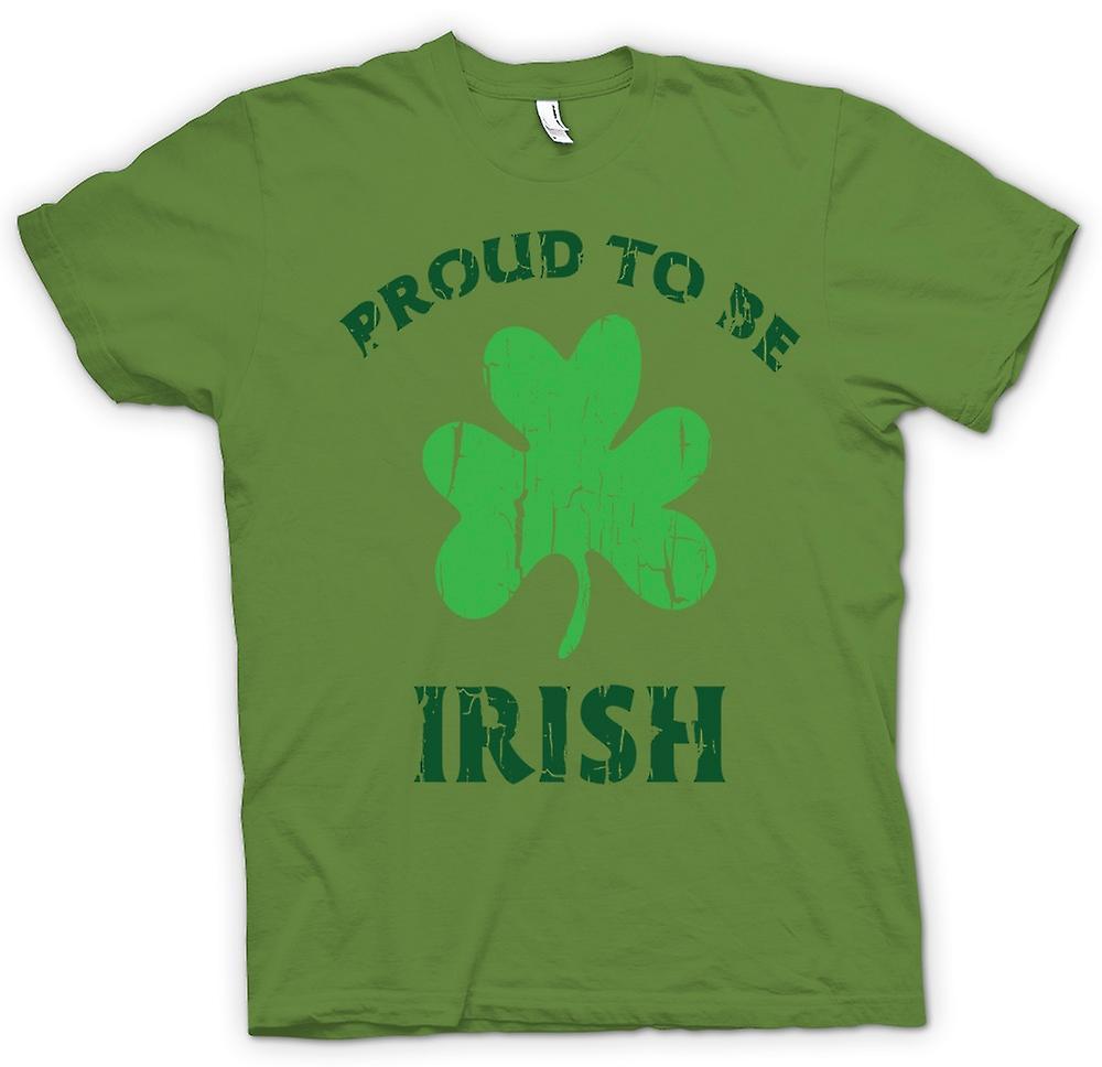 Mens t-skjorte - St Patricks Day - stolt av å være irsk