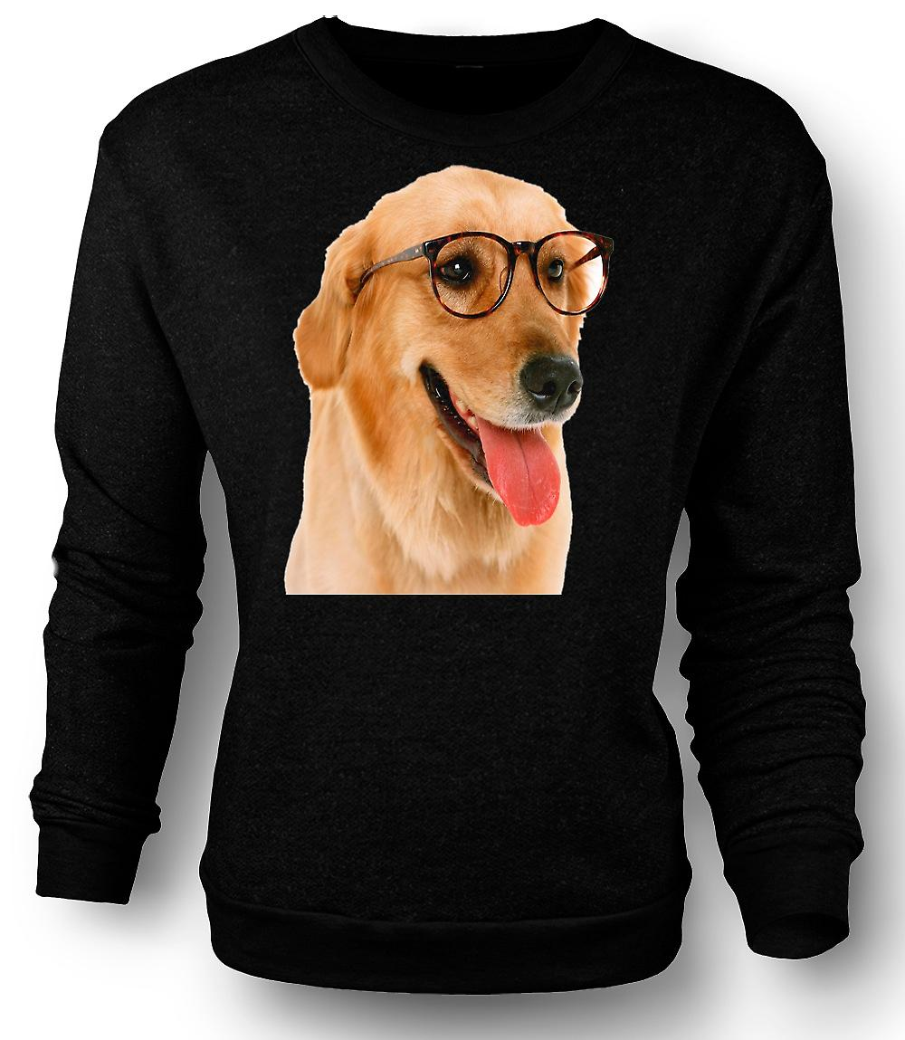 Mens Sweatshirt Labrador With Glasses - Funny