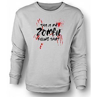 Mens Sweatshirt This Is My Zombie Killing - Funny
