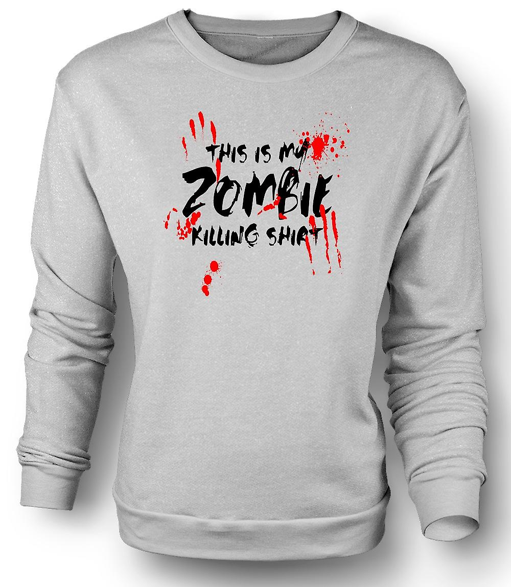 Mens Sweatshirt This Is My Zombie Killing - Funny