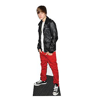Justin Bieber wearing Leather Jacket - Lifesize Cardboard Cutout / Standee