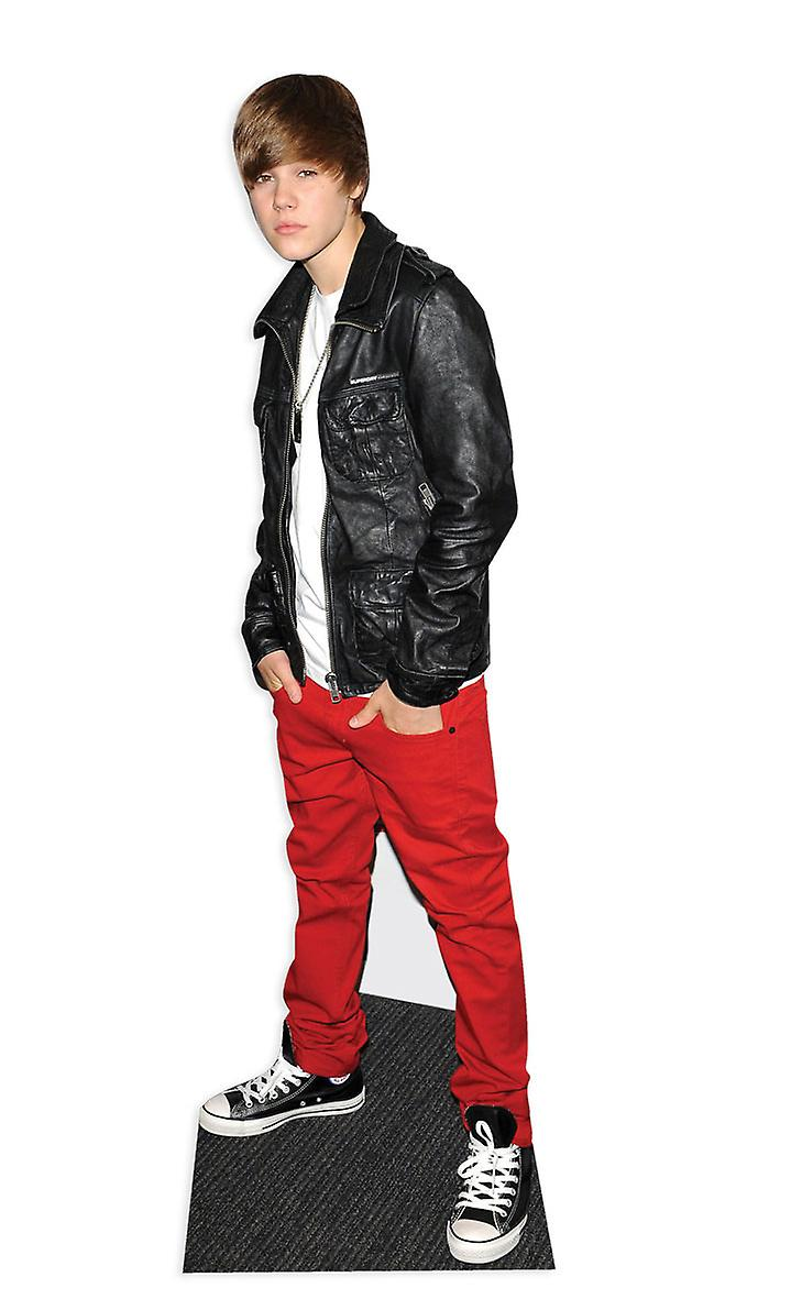 Justin Bieber wearing Leather Jacket - Lifesize Cardboard Cutout / Standee