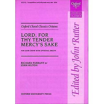 Seigneur, pour l'amour de ta miséricorde d'appel d'offres: chant, piano (Oxford chorales classiques partitions)