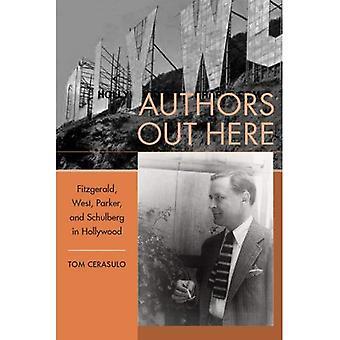 Författarna här: Fitzgerald, West, Parker och Schulberg i Hollywood