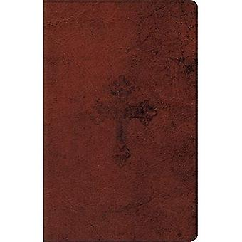 ESV Ultrathin Bible (Trutone, Walnut, Weathered Cross Design)