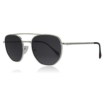 Prada Sport PS56SS 1BC5S0 Silver PS56SS Oval Sunglasses Lens Category 3 Size 53mm