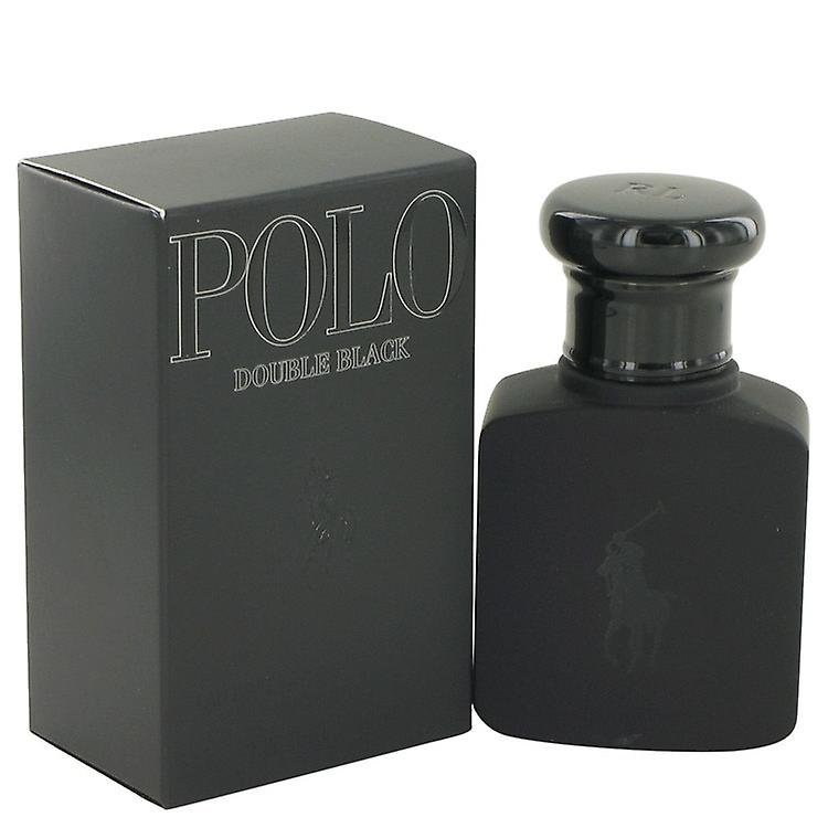 Polo Double Black by Ralph Lauren Eau De Toilette Spray 1.36 oz / 40 ml (Men)