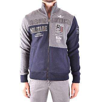 Aeronautica Militare blaue Wolle Outerwear Jacke