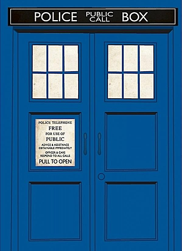 Dr Who Tardis fridge magnet (hb)