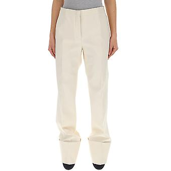 Jil Sander White Cotton Pants