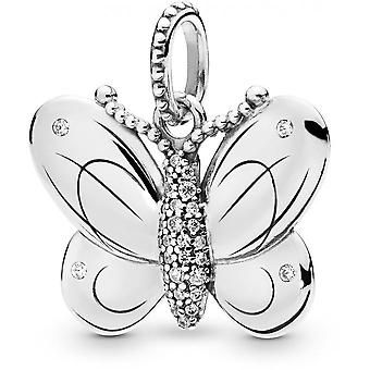 Pandora animal 397933CZ - money woman Butterfly pendant necklace