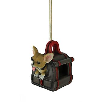 Traveler's Treat Chihuahua Dog In Carrier Hanging Bird Feeder