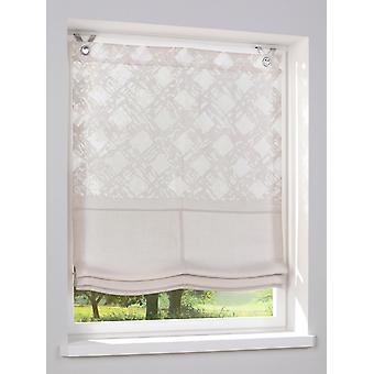 Heine hogar cortina romana patrón estilo de casa de campo de Burnout impreso material de ojos taupe