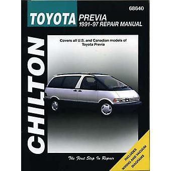 Toyota Previa (1991-97) Repair Manual by Chilton Automotive Books - T