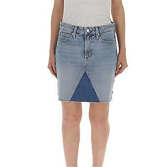 Calvin Klein Jeans Light Blue Cotton Skirt