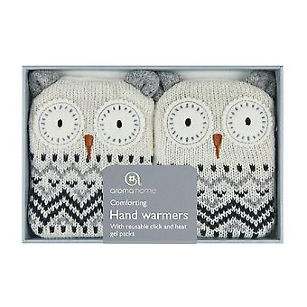 Cliquez sur & chaleur réchauffe-mains de Gel couverture tricotée : Snow Owl (paire)