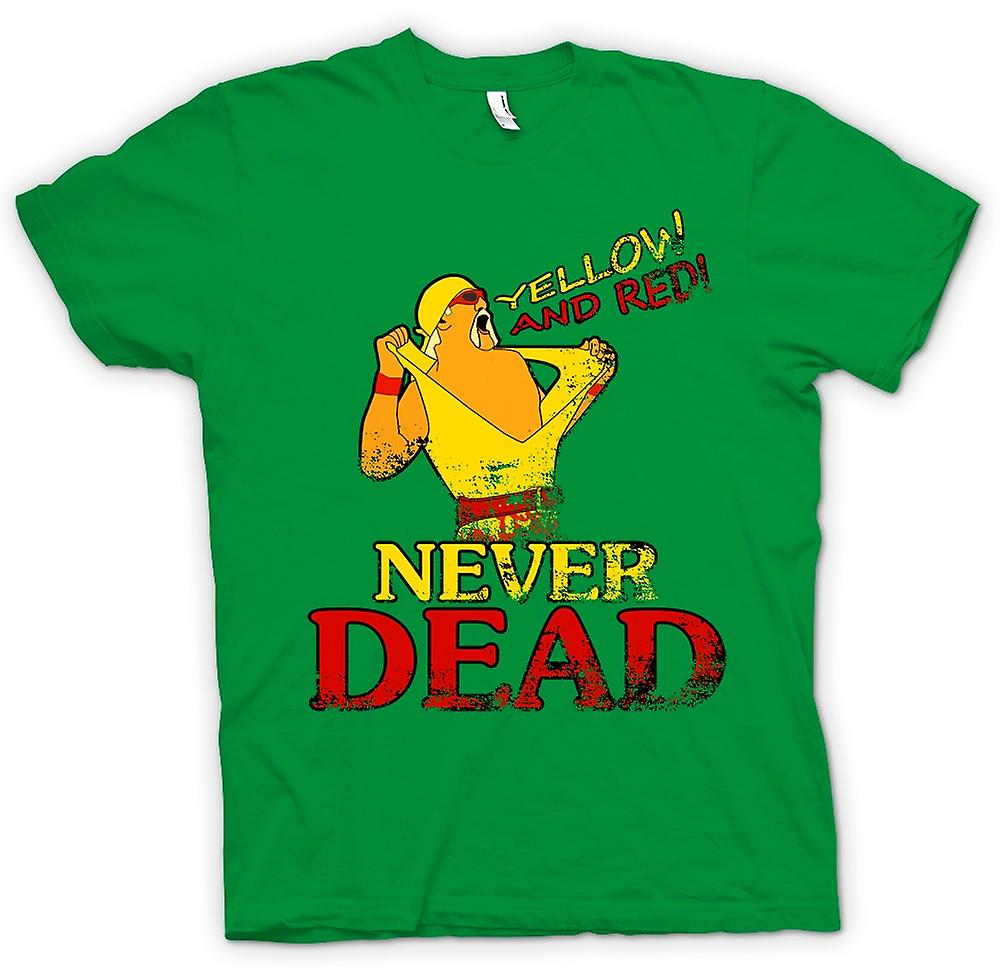Mens T-shirt - Hulk Hogan - Yellow And Red Never Dead